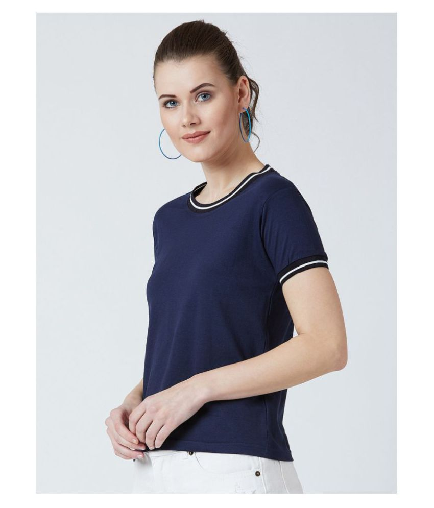 Bombay Clothing Company Cotton Regular Tops - Blue