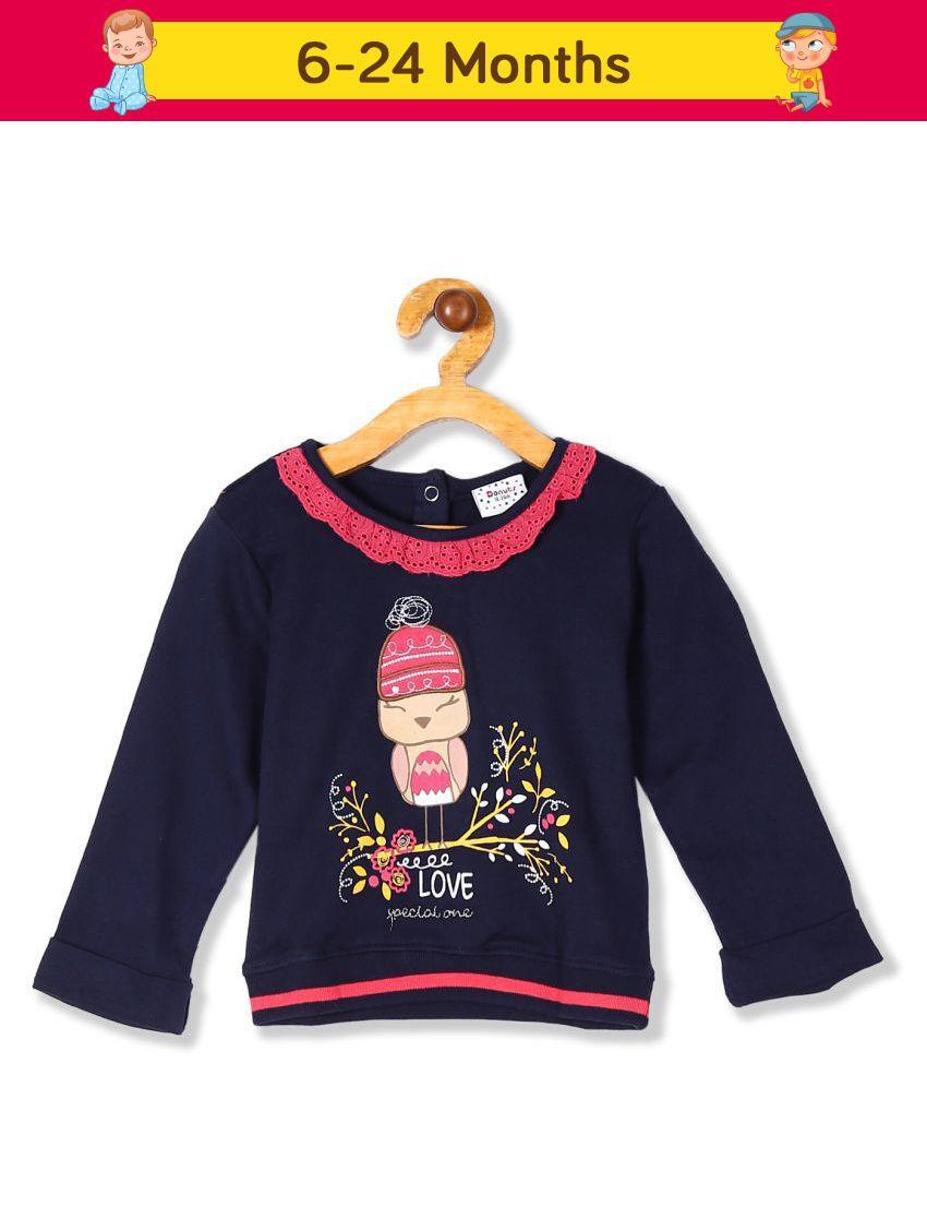 Donuts Girls Long Sleeve Graphic Sweatshirt
