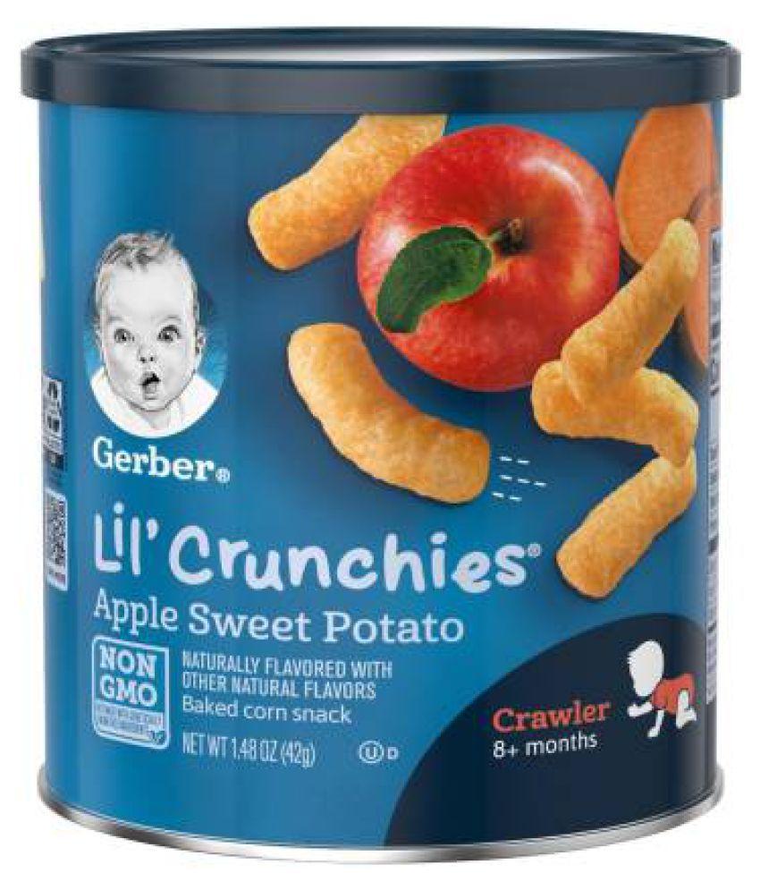 Gerber Baby Food APPLE SWEET POTATO Snack Foods for 6 Months + ( 42 gm )