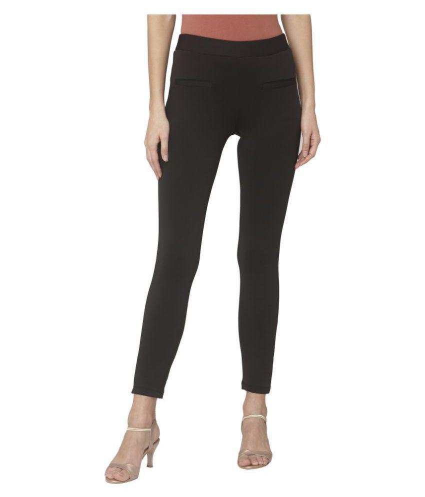Smarty Pants Cotton Lycra Jeggings - Black