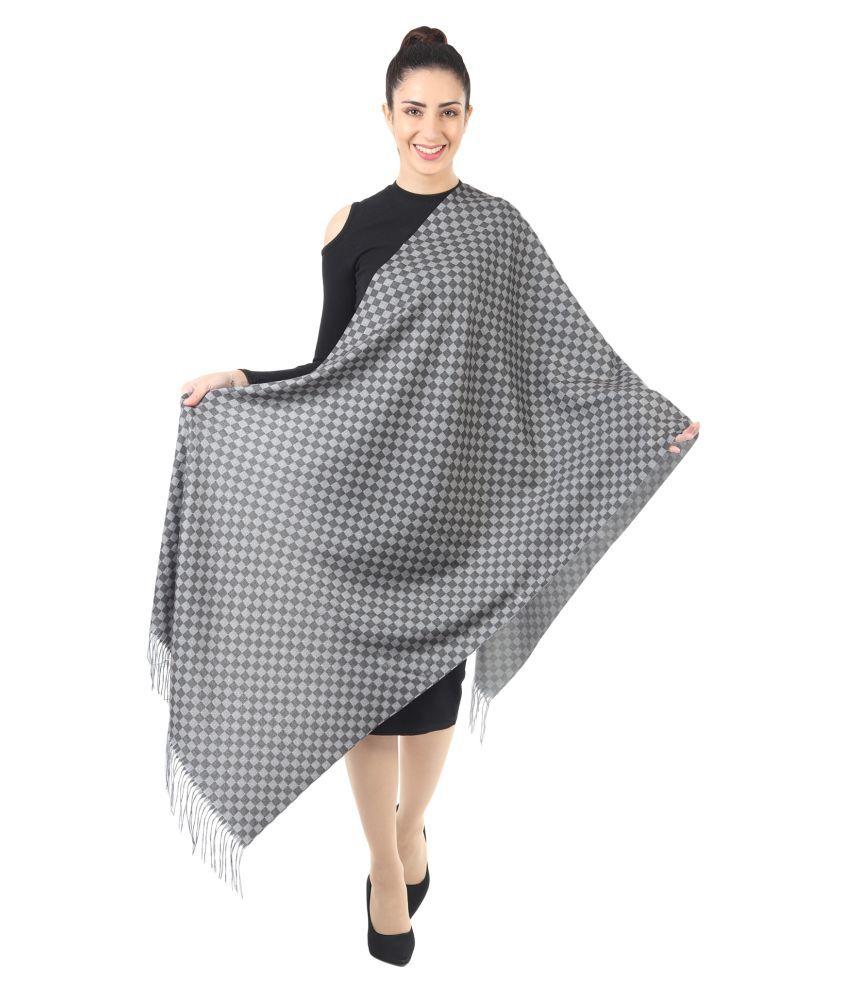 Innayya Multicoloured Checkered Shawl