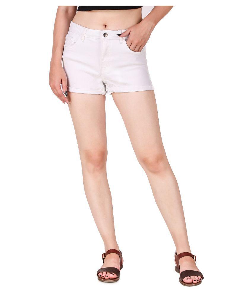Cali Republic Denim Hot Pants - White