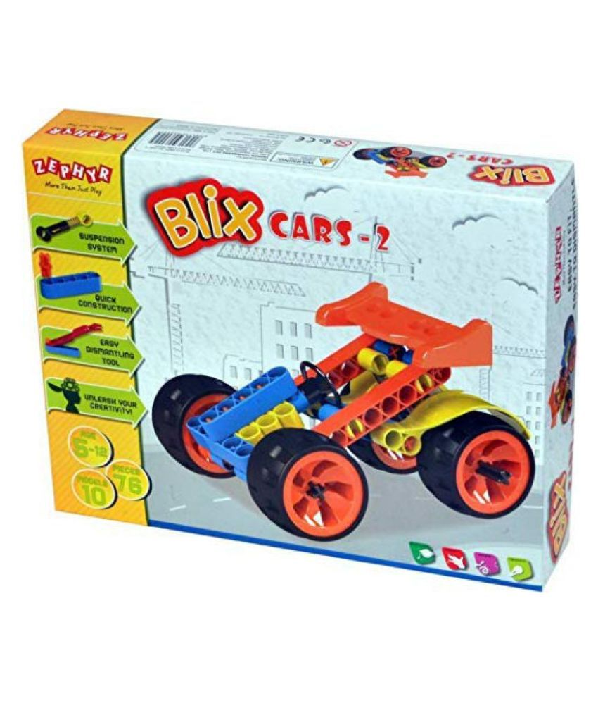 Zephyr Blix Cars-2, Multi Color Safe and Non Toxic Toys of Children