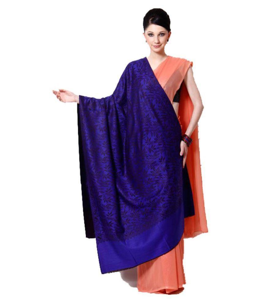 Aarzoo Purple Kashmiri Shawl