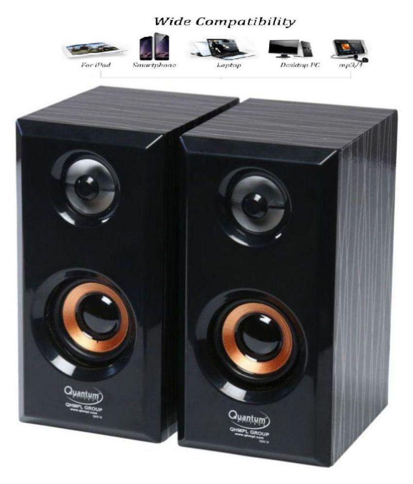 Quantum QHM630 COLOR BE VARY Portable Laptop/Desktop USB Powered Multimedia Wooden Speaker with AUX Input  Multicolor