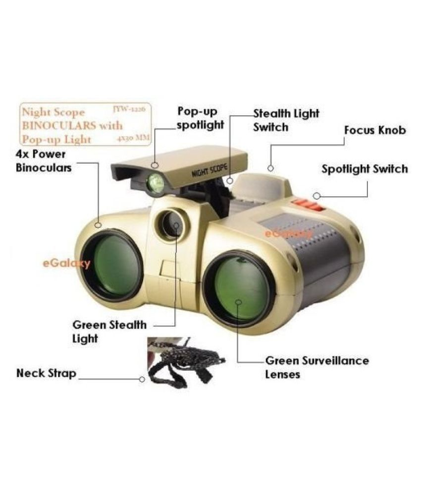 Toys Fort® Night Scope Toy Binocular with Pop-Up Light for Kids