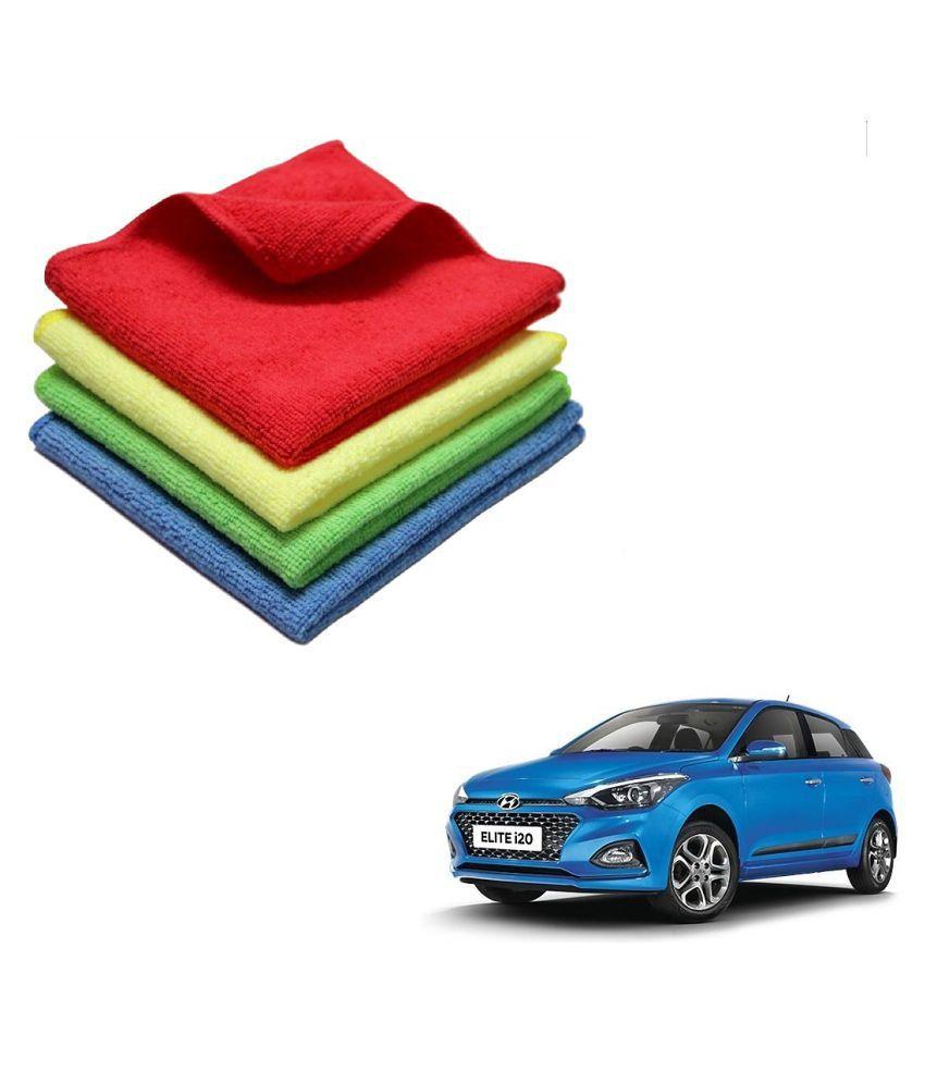 Kozdiko Microfiber Cleaning Cloth Car 300GSM 40x40 cm Pack of 4 For Hyundai Elite i20