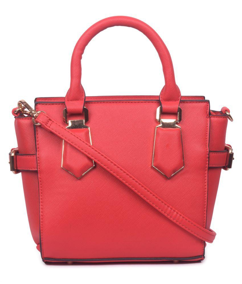Bagkok Red P.U. Satchel Bag