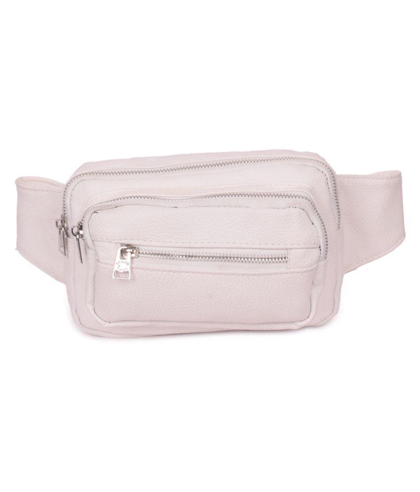 Bagkok White P.U. Sling Bag