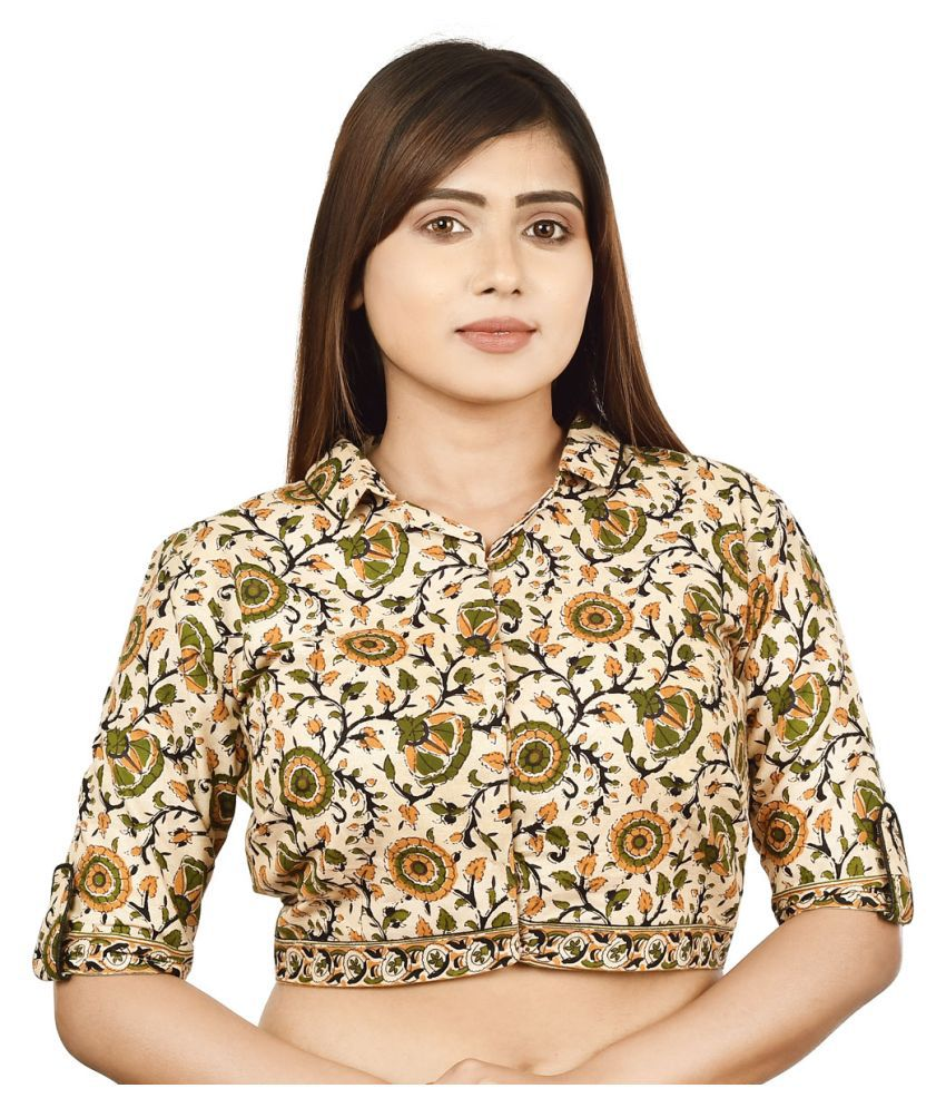 FASHION OFFBEAT Multicoloured Cotton Readymade without Pad Blouse