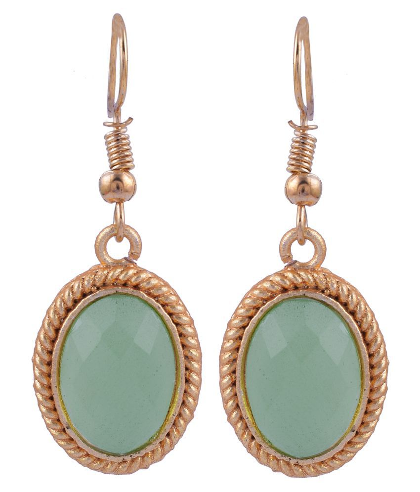 The Jewelry Creations Statement Design! Chalcedony Beautiful Piece For Women's Elegant Gold Plated Handmade Design Dangle Earring
