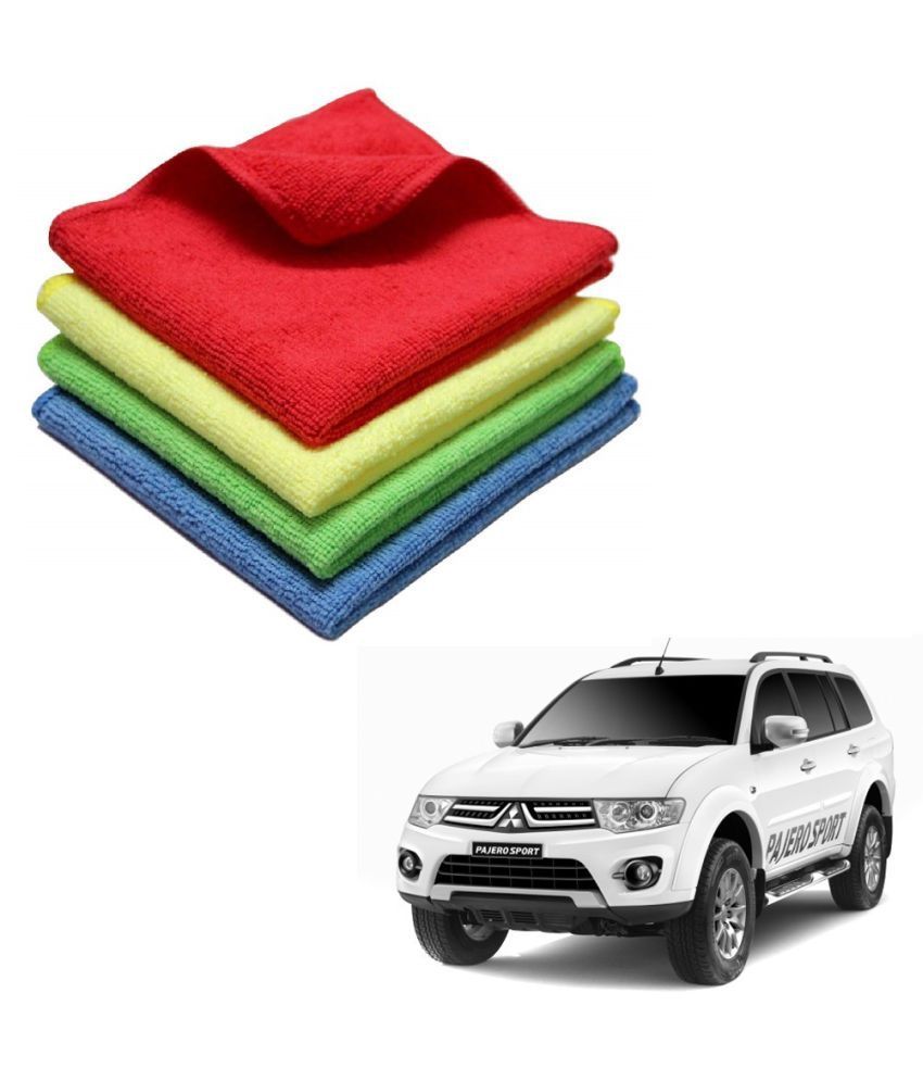 Kozdiko Microfiber Cleaning Cloth Car 300GSM 40x40 cm Pack of 4 For Mitsubishi Pajero Sport