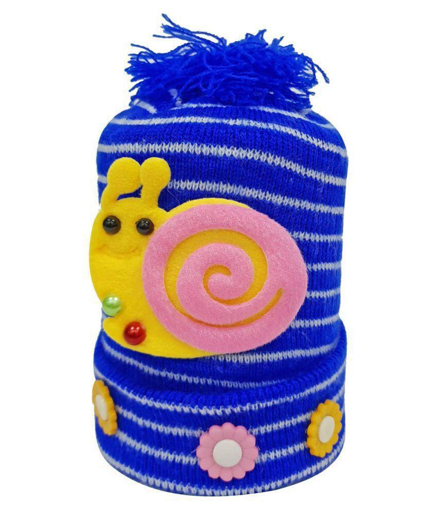 Babeezworld Baby Girl & Boy Winter Woolen Warm Cap (Kids Pack Of 1 )