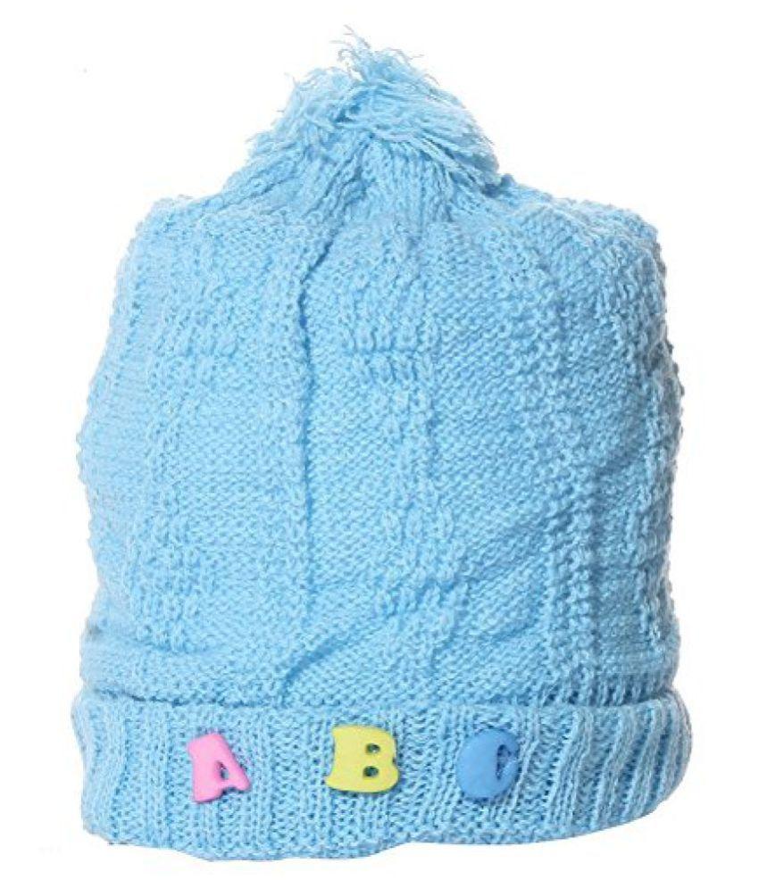 Babeezworld Sky Blue Wollen Baby Cap