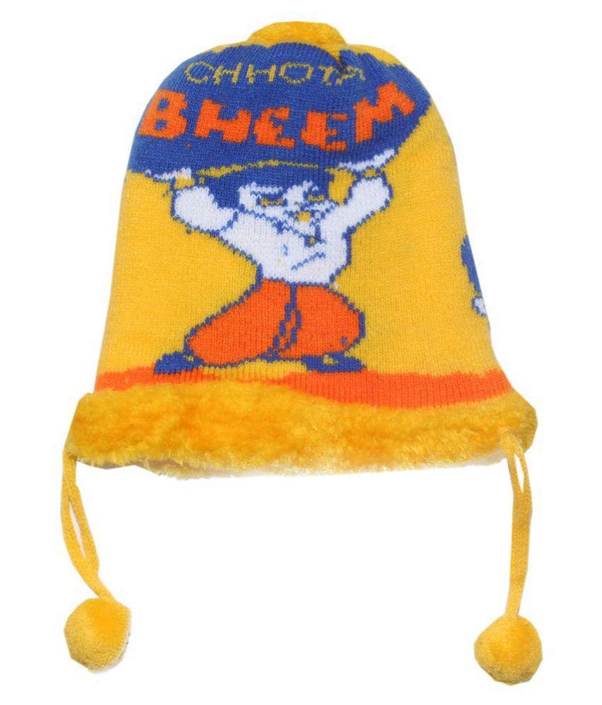 Goodluck Baby Wollen Caps (Yellow)