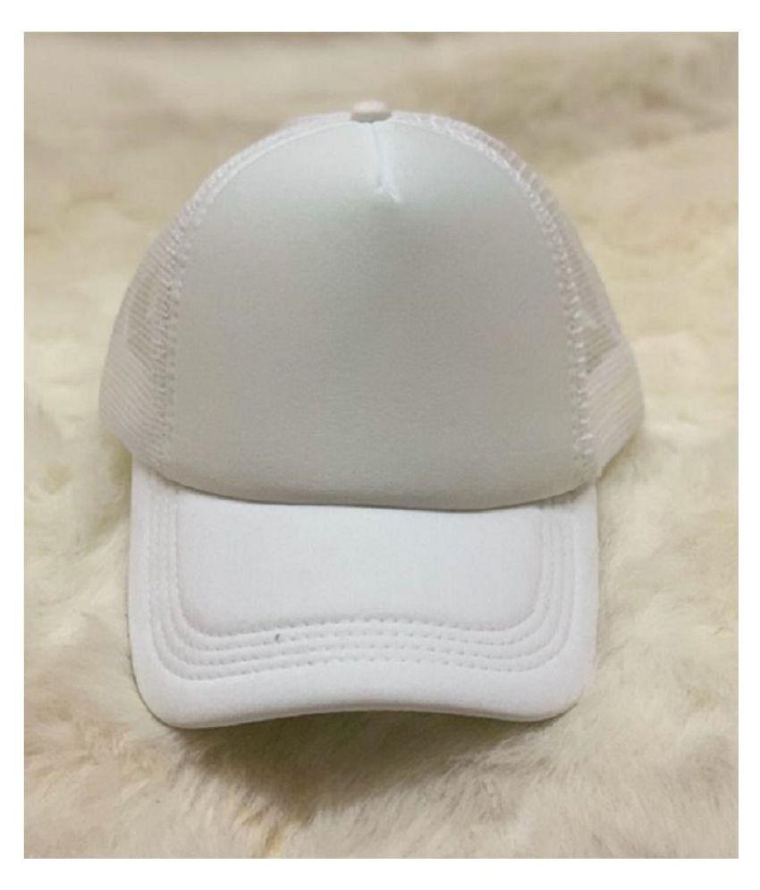 Shreeji Max Imported Plain White Cap.