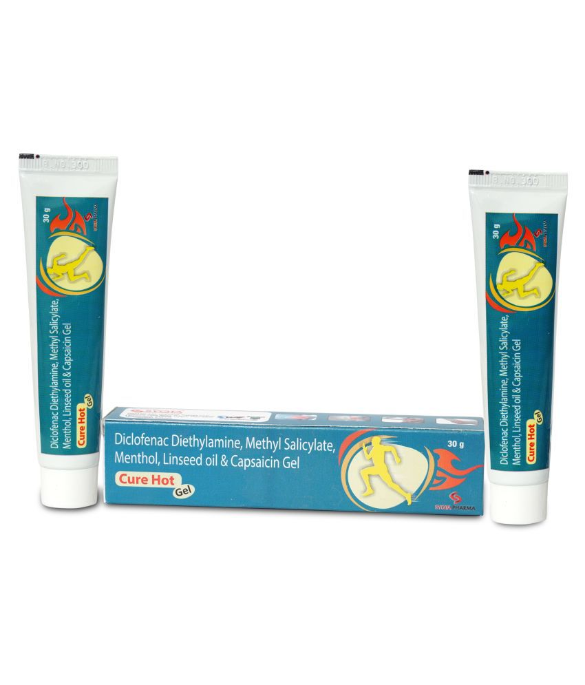 cure hot gel pain relief ointment 30g Pack Of 2