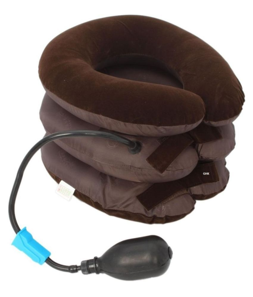 GHK H68 Inflate Cervical Neck Traction Pillow Adjustable 3 Layer Massager