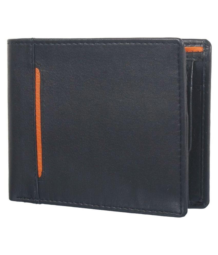 NUKAICHAU Leather Black Fashion Regular Wallet