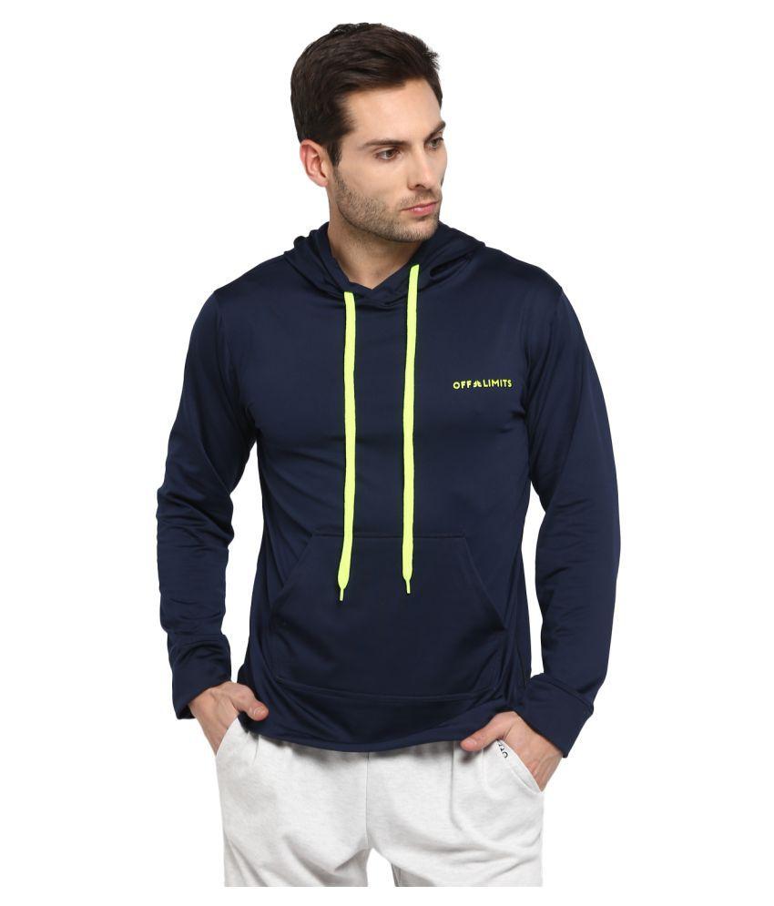 OFF LIMITS Navy Polyester Fleece Sweatshirt