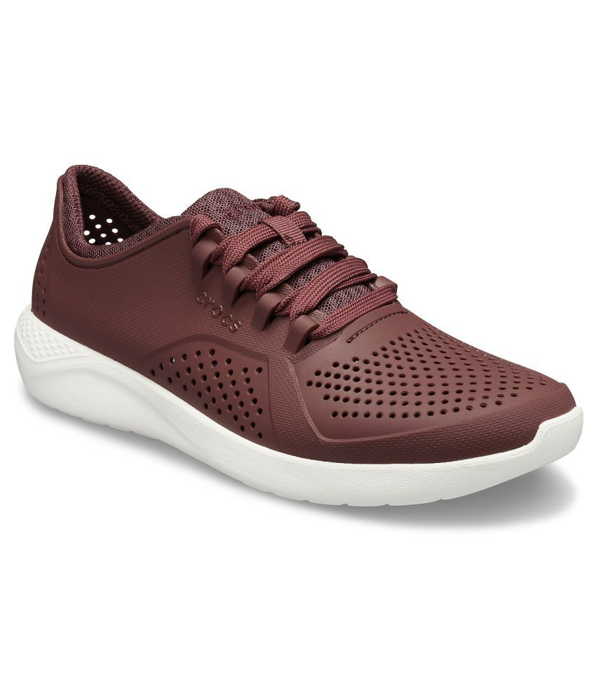 Crocs LiteRide Pacer Girls Red Shoe