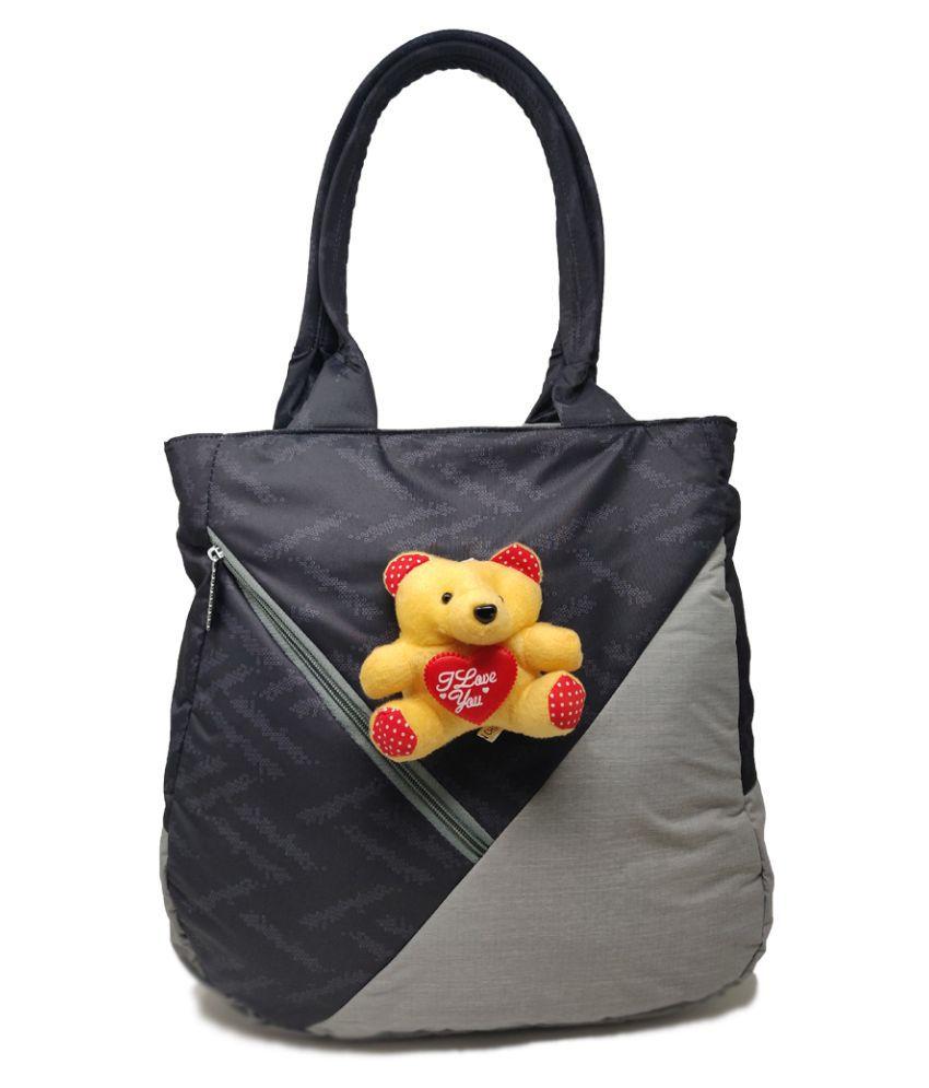 Rish Lifestyles Gray P.U. Shoulder Bag