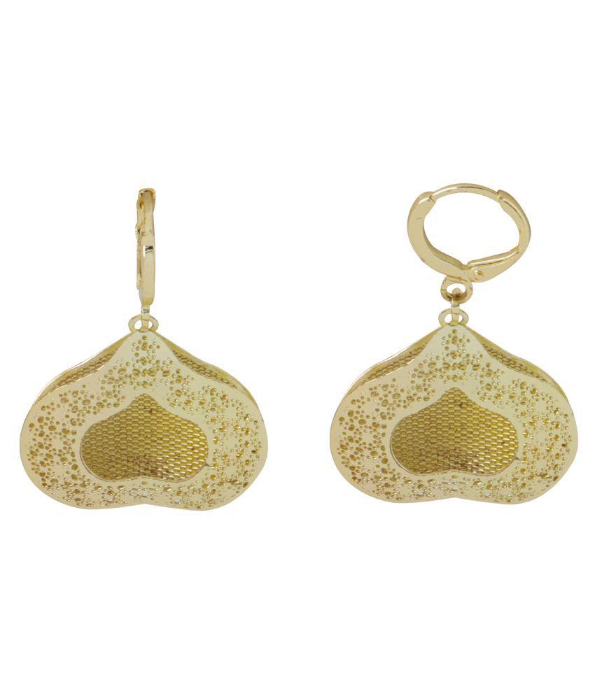 Silver Shine Dashing Golden Heart Clip On Bali Earring for Women