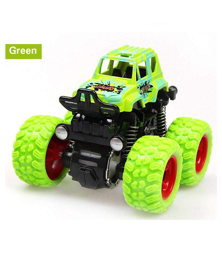 KF Deals Monster Trucks Friction Powered Cars for Kids, Toddler Toys Inertia Car Toys (Green)
