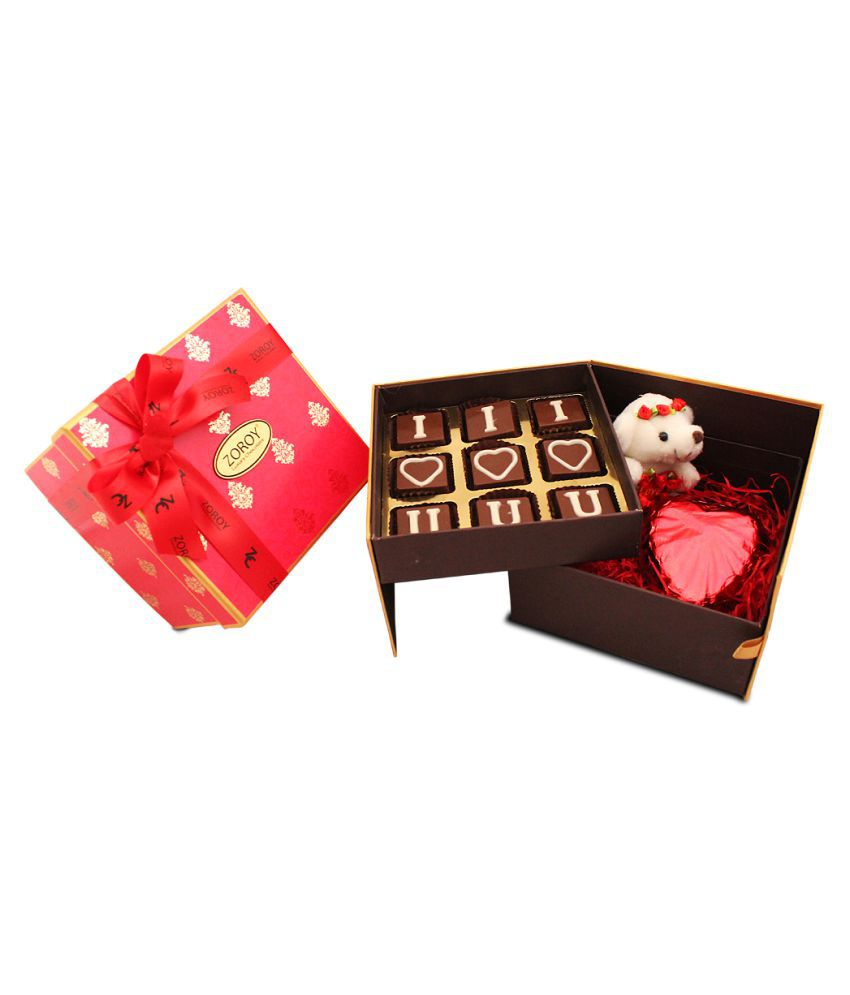 Zoroy Chocolate Box Valentines chocolate gift box 150 gm