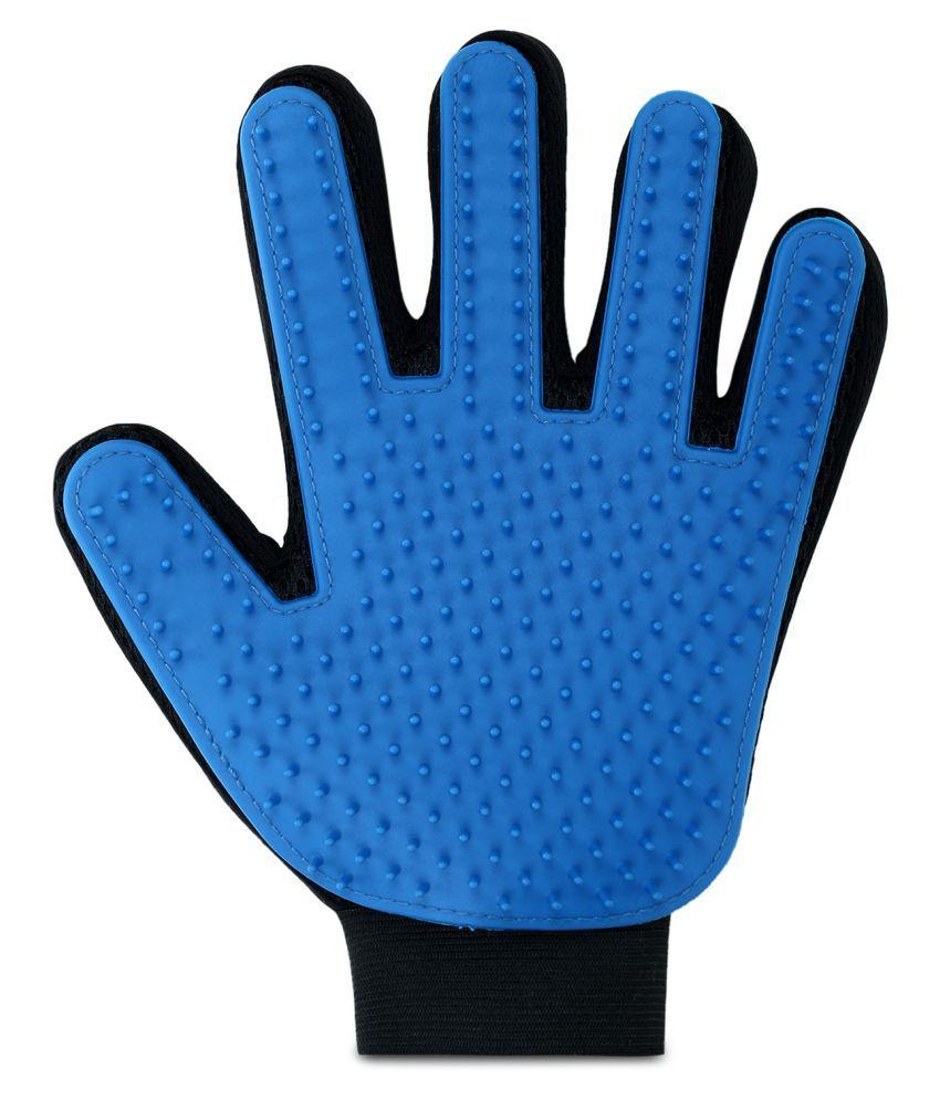 Nazar Battu Dog Bath Pet cleaning Supplies Pet Glove Dog Accessories Basic Grooming Gloves for Dog, Cat  (Blue, Fits All)