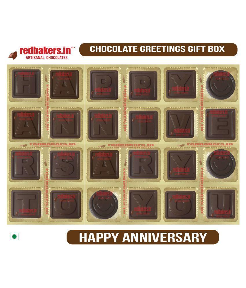 redbakers.in Chocolate Box Happy Anniversary Chocolate Greetings 180 gm