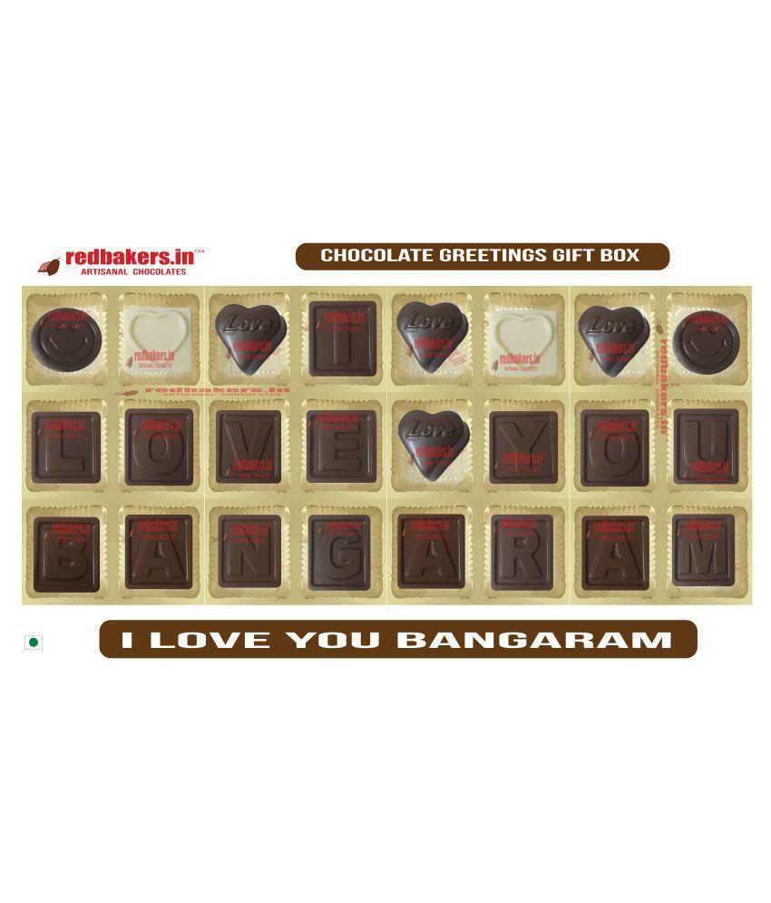 redbakers.in Chocolate Box I Love you bangaram Chocolate Greetings 360 gm