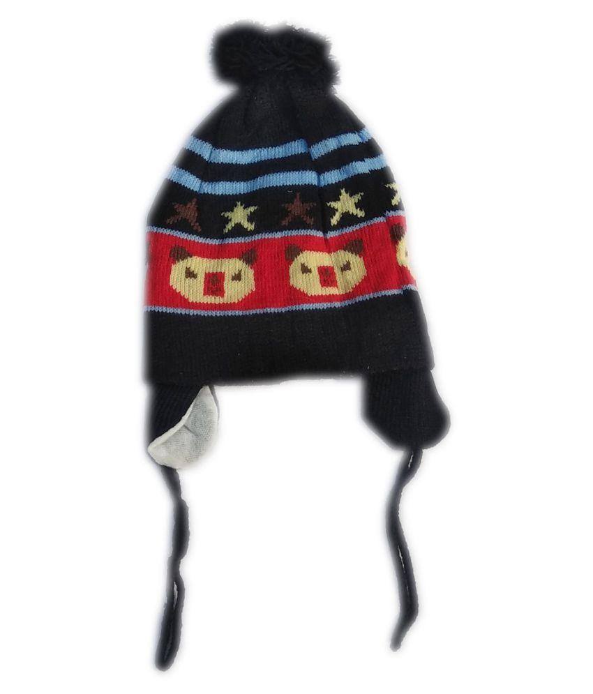 Squnibee  Kids Cap  (Black) Pack of 1 Cap for 06-24 Months