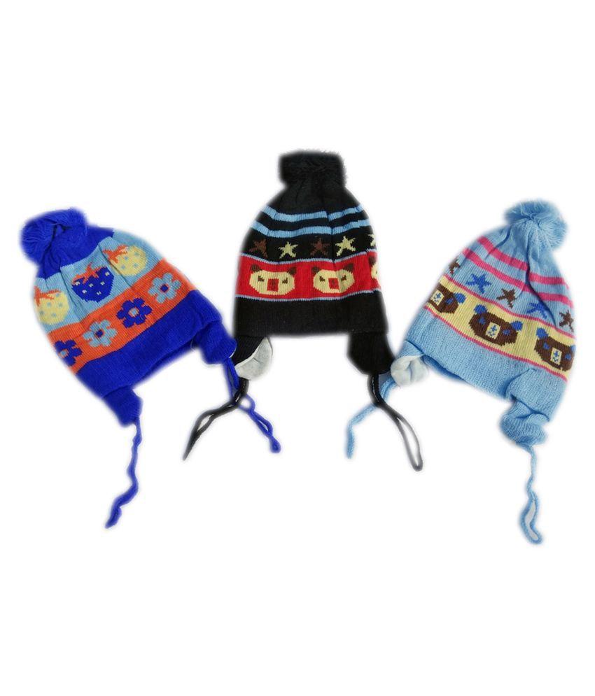 Squnibee  Kids Cap  (Multicolor)Pack of 3 Caps For 06-24 Months