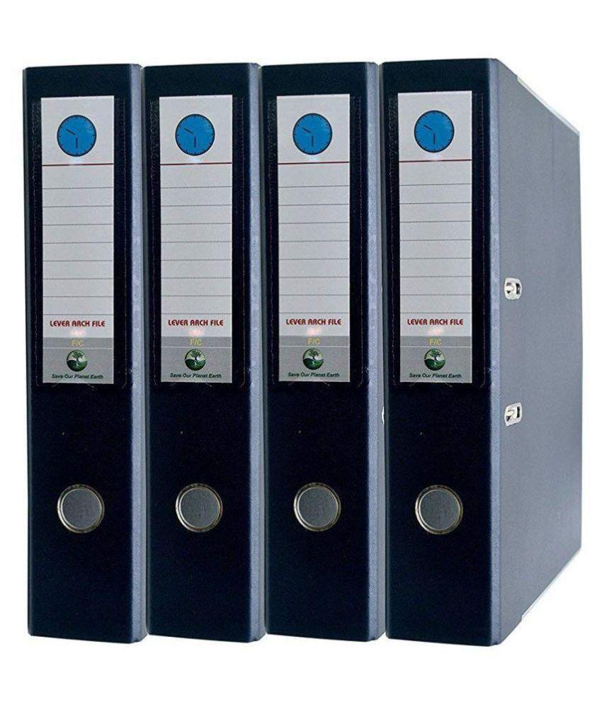 HELLOPERFECT PVC Box File - (Pack of 4 Pcs)