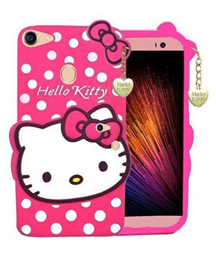 Oppo F5 Printed Cover By ClickAway Cute Hello Kitty Back Cover