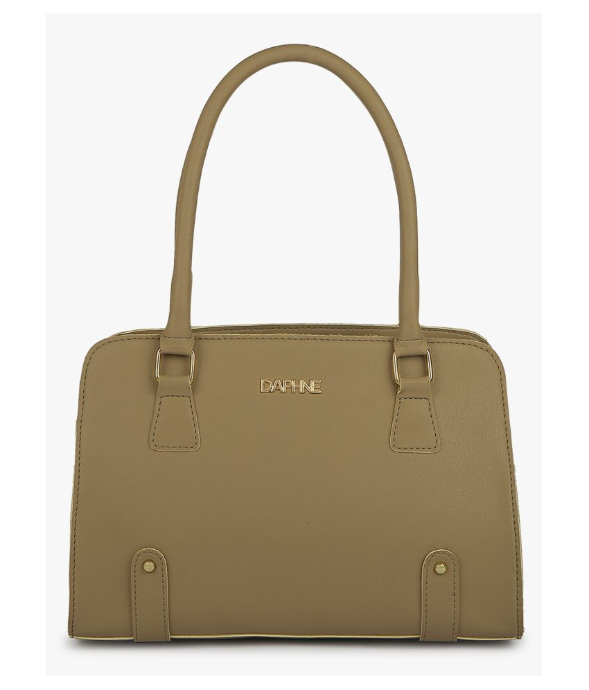Daphne Beige Faux Leather Tote Bag