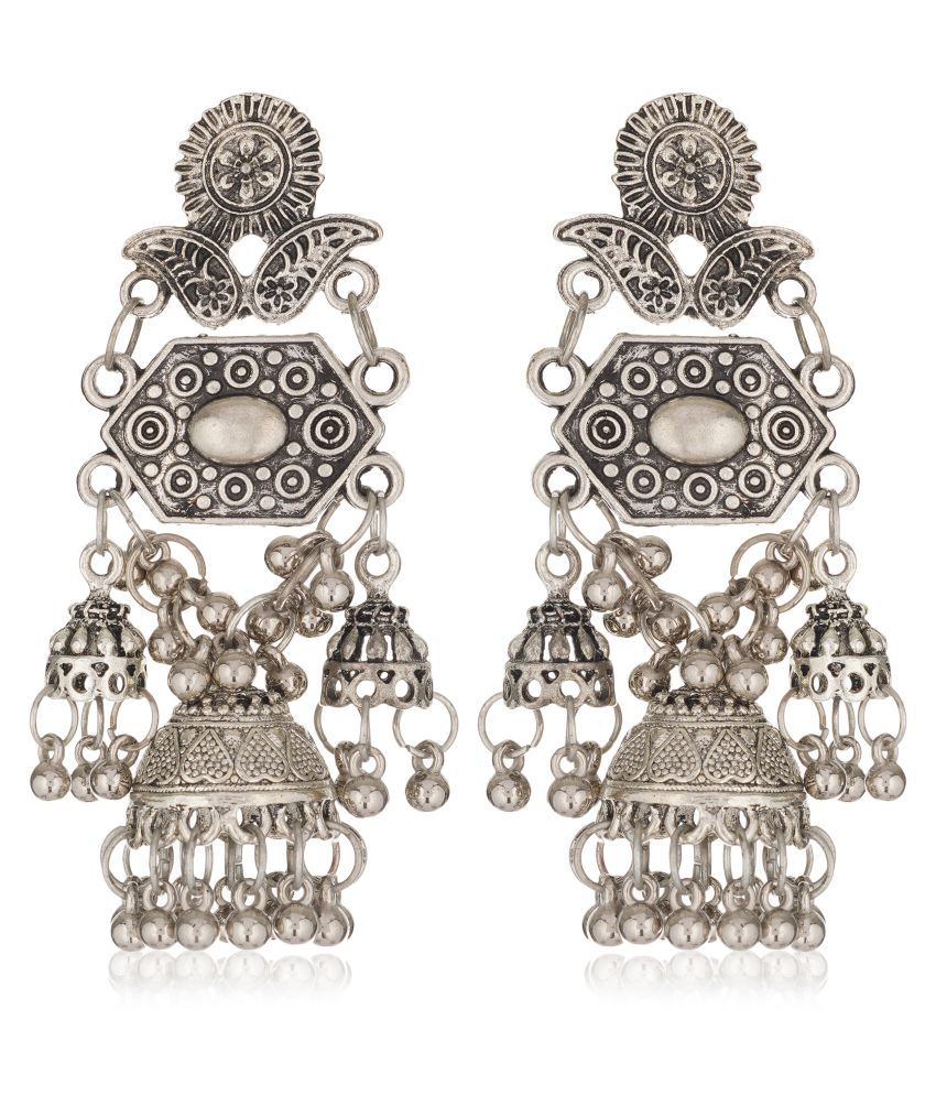 Darshini Designs New Style Oxidized Hanging Earrings For Women