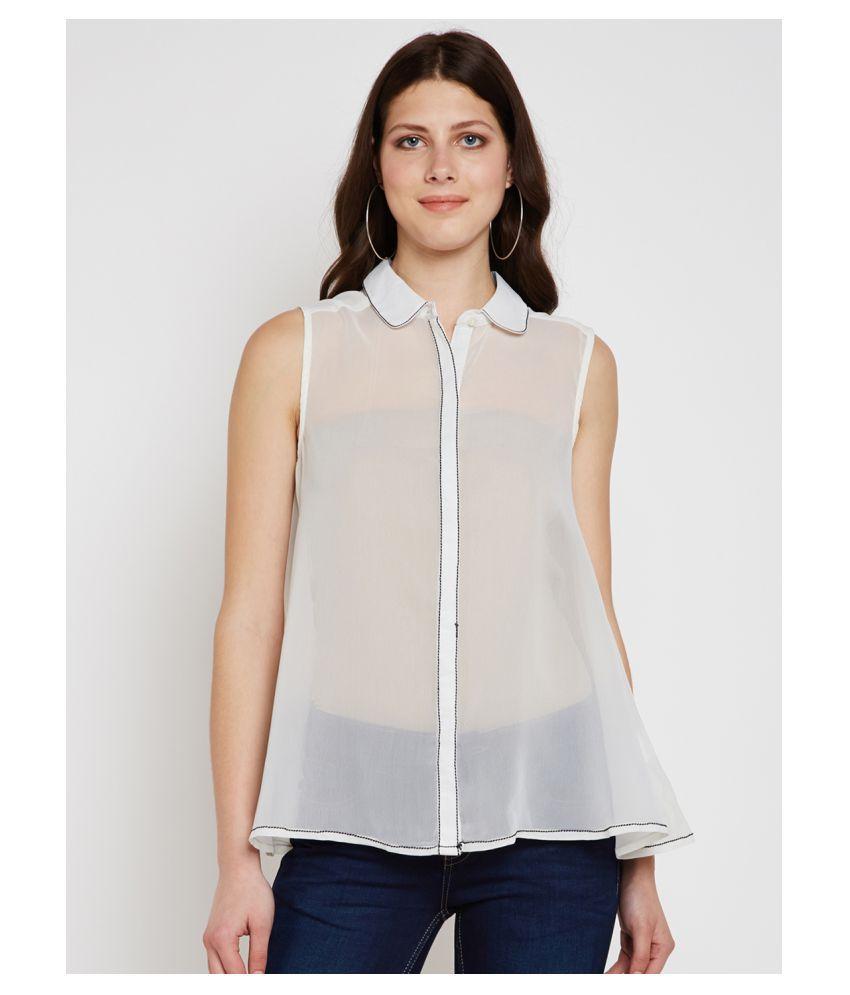 Nun Off White Georgette Shirt