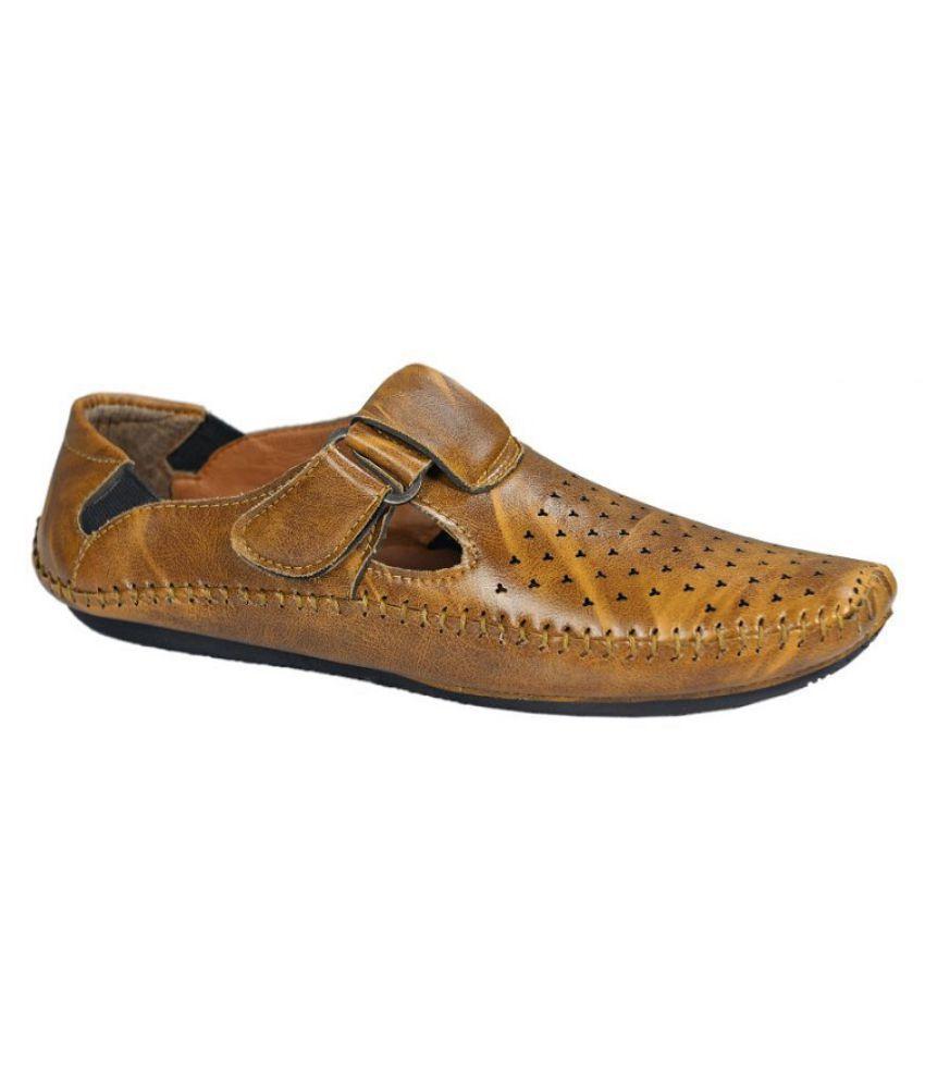 SIMATA Tan Designer Shoe