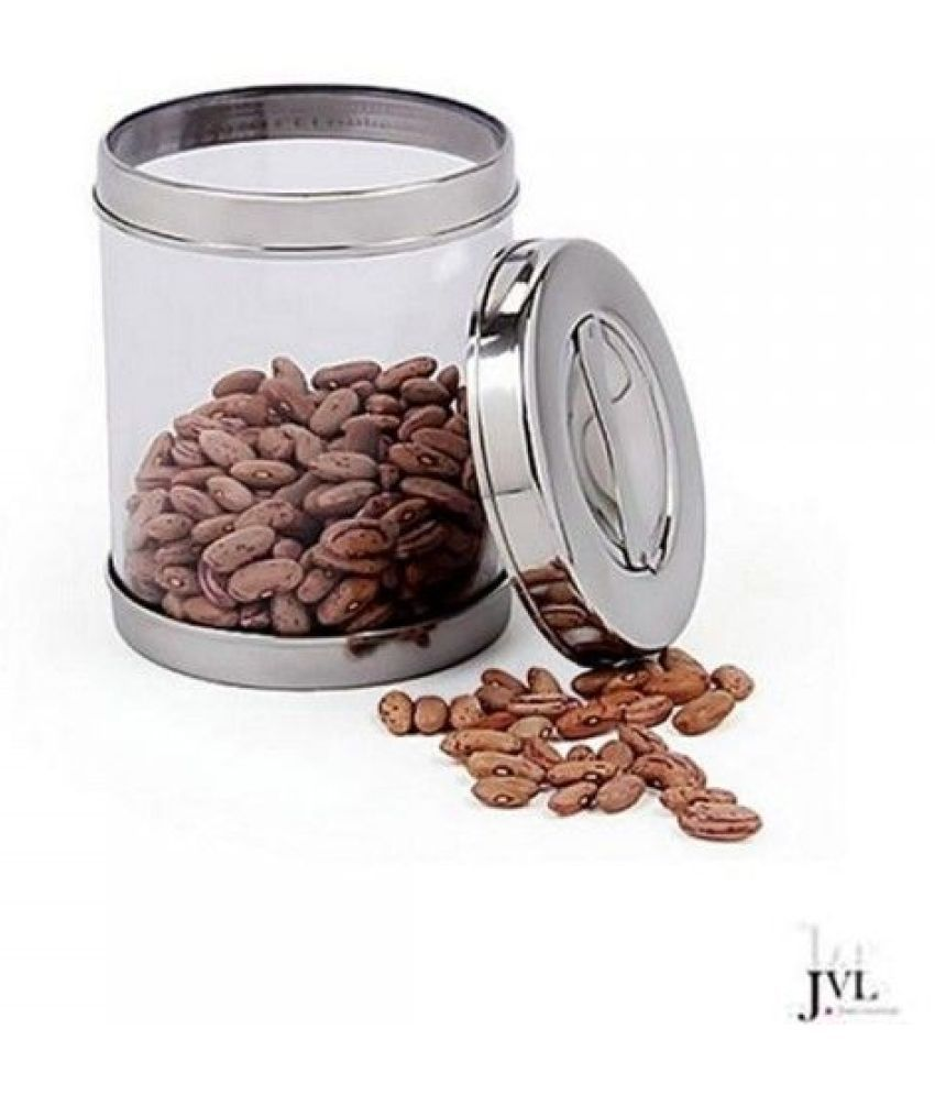 JVL Air Tight Canister Steel Spice Container Set of 1 900 mL
