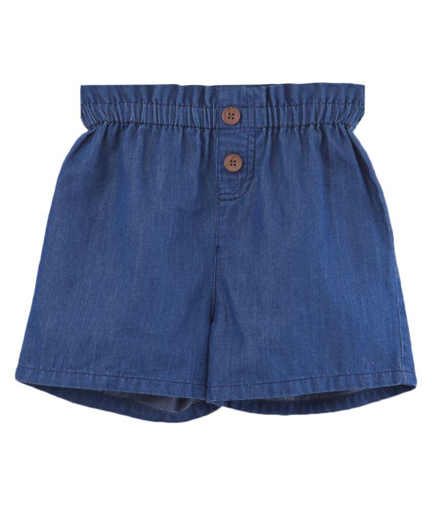 Denim Paperbag Shorts Blue 3Y