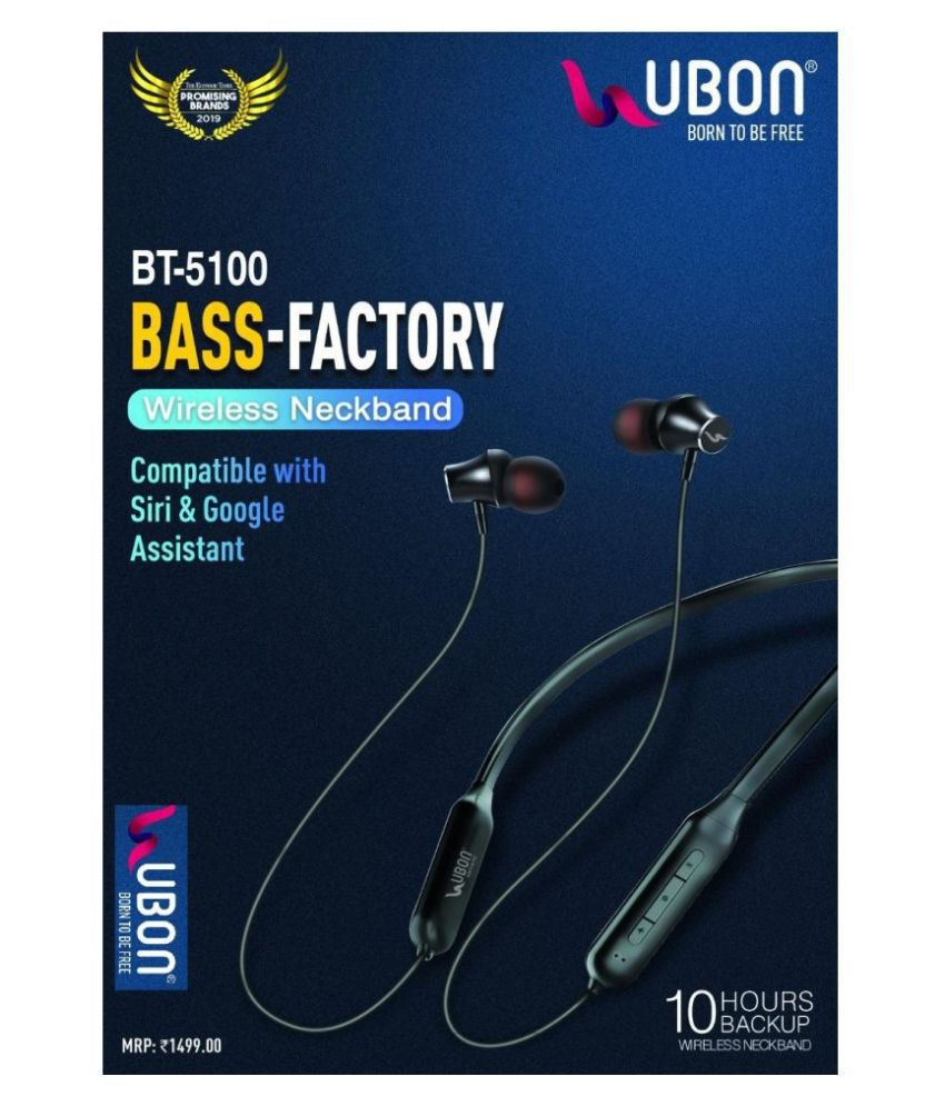 Ubon Bt 5100 Bluetooth Neckband Wireless With Mic Headphones Earphones Buy Ubon Bt 5100 Bluetooth Neckband Wireless With Mic Headphones Earphones Online At Best Prices In India On Snapdeal