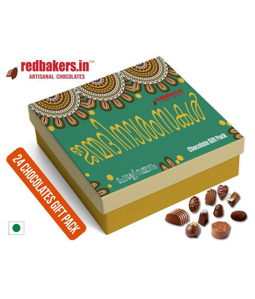 redbakers.in Chocolate Box HappyBirthday Malayalam 24Chocolate PACK 400 gm