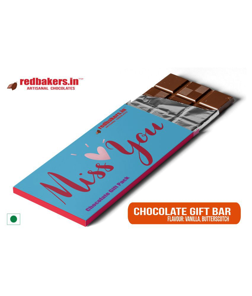 redbakers.in Chocolate Box Miss You Butterscotch Chocolate Bar 100 gm