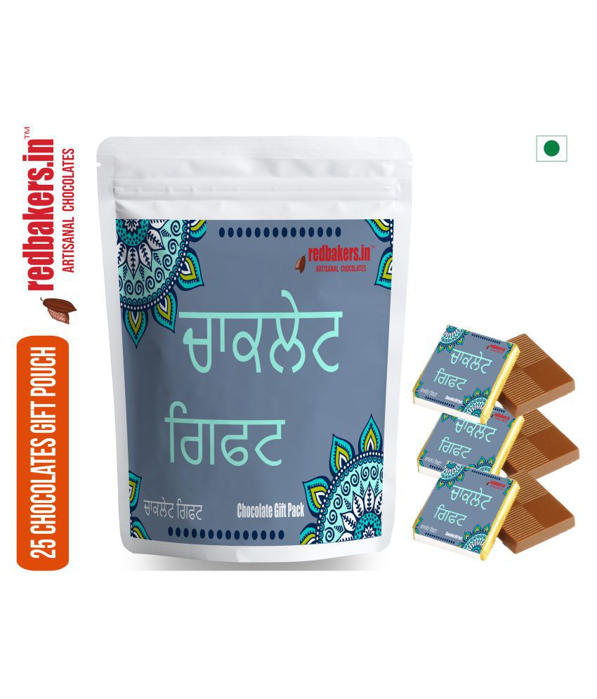 redbakers.in Chocolate Sampler Punjabi 25 Chocolate Gift Pack 250 gm