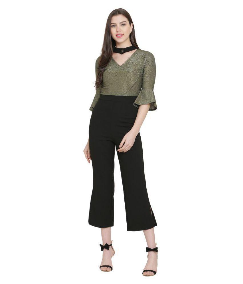 FUNKIEZ FASHION Green Poly Cotton Jumpsuit