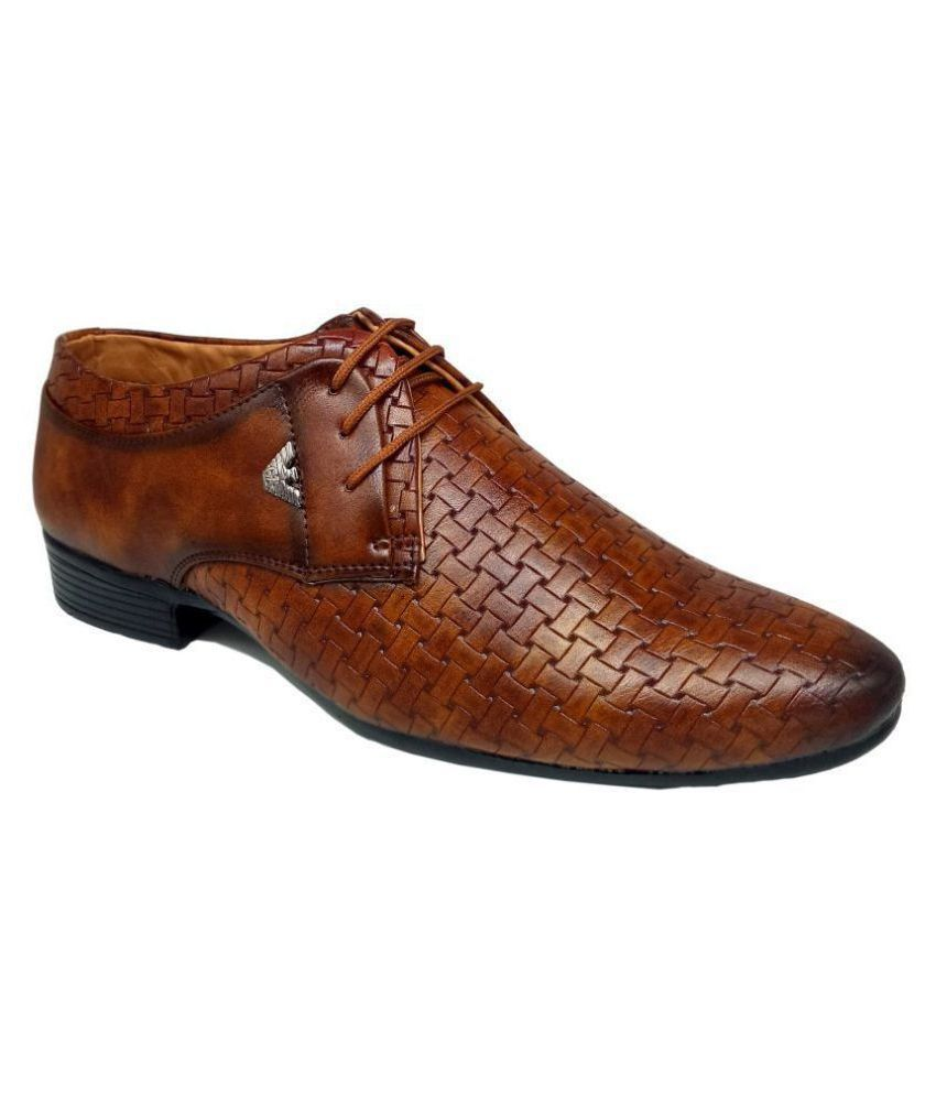 SIMATA Party Artificial Leather Tan Formal Shoes