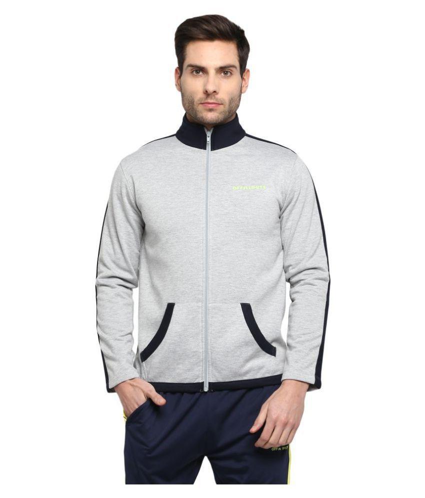 OFF LIMITS Grey Polyester Fleece Jacket