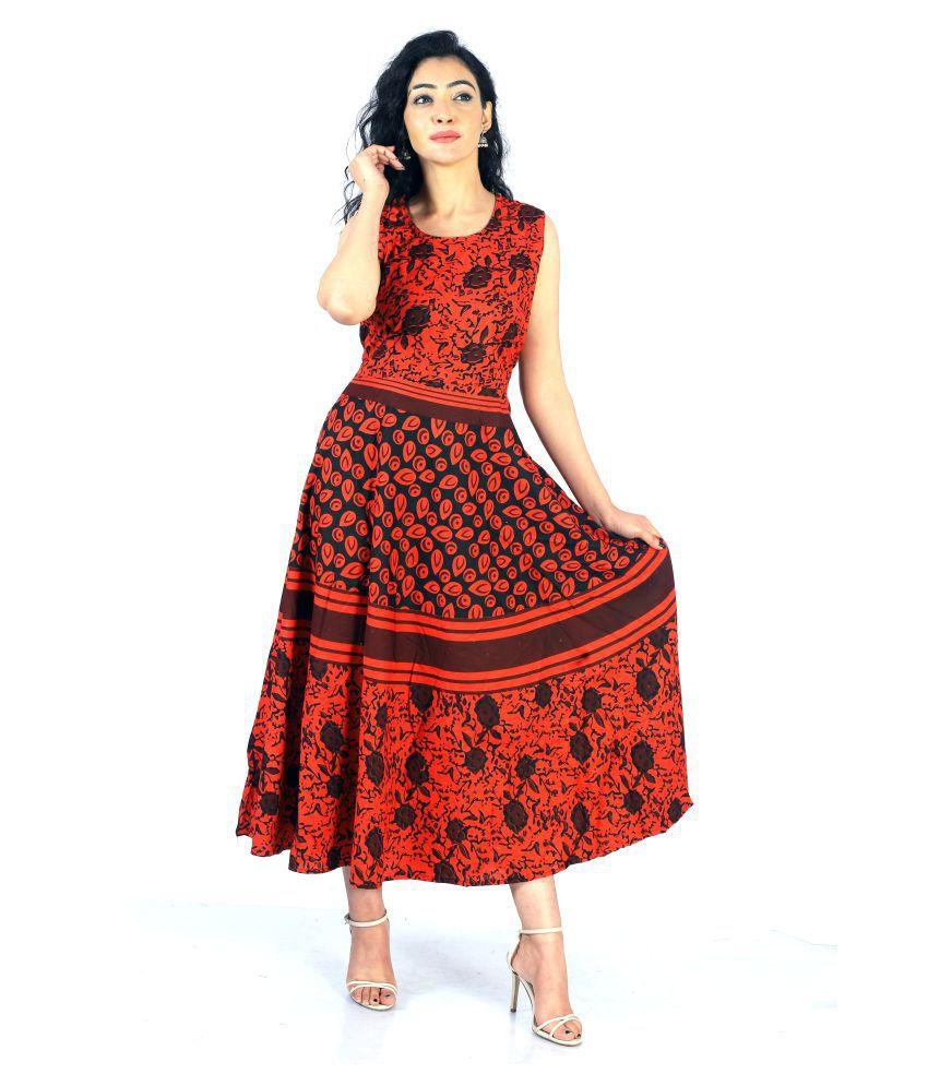 Mahima Fab Cotton Multi Color Wrap Dress